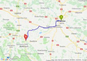 Trasa Wrocław - Świebodzice
