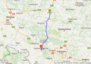 Trasa Wieluń - Kędzierzyn-Koźle