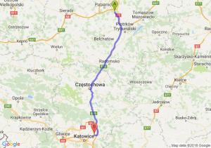Trasa Tuszyn - Dąbrowa Górnicza