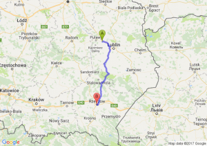 Trasa Kurów - Rzeszów