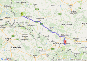 Trasa Bolesławiec - Bielsko-Biała