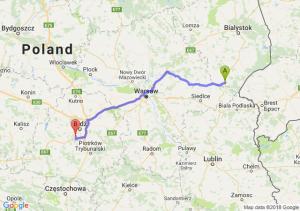 Trasa Siemiatycze - Pabianice