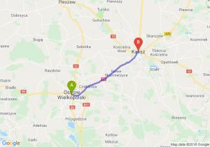 Trasa Ostrów Wielkopolski - Kalisz