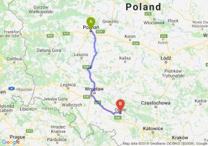 Trasa Poznań - Opole