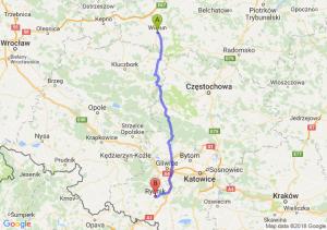 Trasa Wieluń - Rybnik