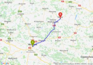Trasa Wrocław - Kalisz