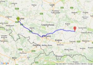 Trasa Biskupice Podgórne - Staszów