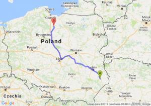 Trasa Zamość - Kwidzyn