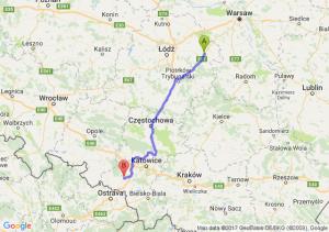 Trasa Rawa Mazowiecka - Rybnik