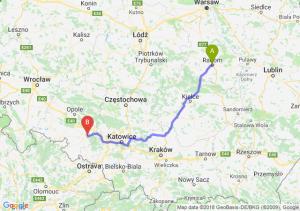 Trasa Radom - Kędzierzyn-Koźle