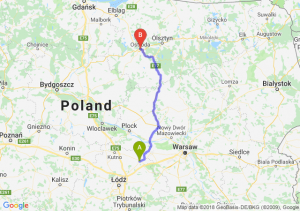 Trasa Łowicz - Ostróda