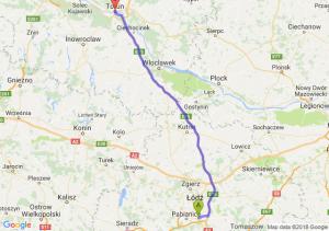 Trasa Rzgów - Toruń