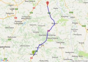 Trasa Jędrzejów - Grójec