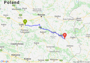 Trasa Brzeziny - Piaski