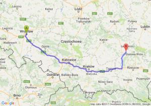 Trasa Wrocław - Tarnobrzeg