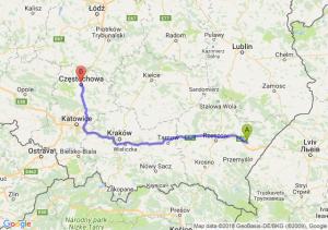 Trasa Jarosław - Częstochowa