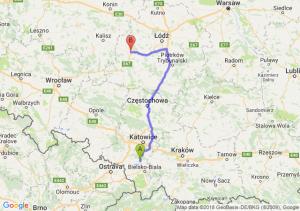 Trasa Pszczyna - Sieradz