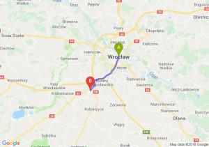 Trasa Wrocław - Tyniec Mały