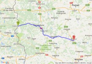 Gubin (lubuskie) - Rawicz (wielkopolskie)