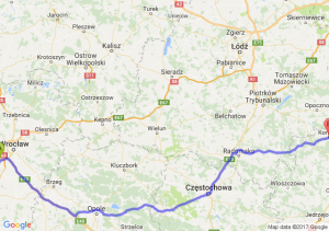 Trasa Biskupice Podgórne - Końskie