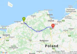 Trasa Koszalin - Gniew