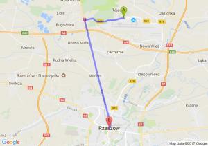 Trasa Nowa Wieś (koło Jasionki) - Rzeszów