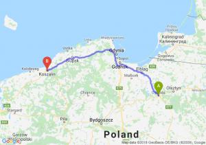 Trasa Ostróda - Koszalin