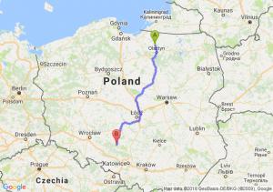 Trasa Dobre Miasto - Olesno