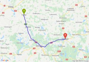 Trasa Pasłęk - Olsztyn