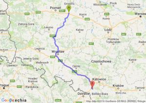 Trasa Września - Żory