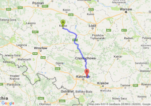 Trasa Kalisz - Dąbrowa Górnicza