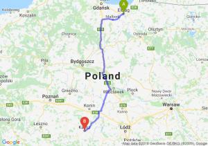 Trasa Elbląg - Kalisz
