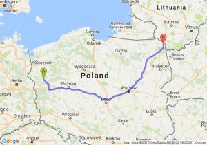 Gorzów Wielkopolski (lubuskie) - Sejny (podlaskie)