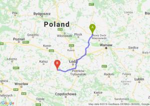 Trasa Płońsk - Sieradz