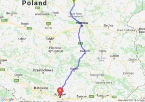 Trasa Ciechanów - Kraków