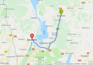 Trasa Goleniów - Szczecin