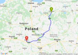 Trasa Olsztyn - Konin