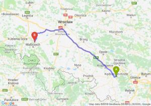 Trasa Kędzierzyn-Koźle - Świebodzice