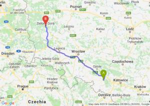 Trasa Kędzierzyn-Koźle - Zielona Góra