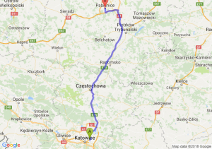 Trasa Sosnowiec - Pabianice