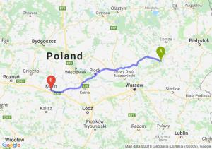 Trasa Ostrów Mazowiecka - Konin