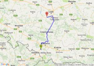 Trasa Żory - Łask