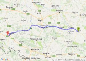 Trasa Lublin - Kąty Wrocławskie