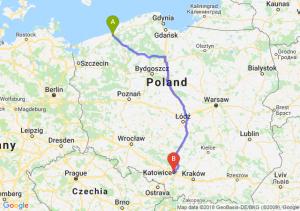 Trasa Koszalin - Katowice