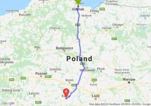 Trasa Gdańsk - Kalisz