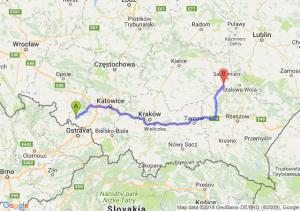 Trasa Racibórz - Tarnobrzeg
