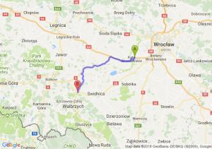 Trasa Kąty Wrocławskie - Świebodzice