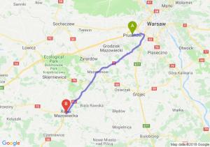 Trasa Pruszków - Rawa Mazowiecka