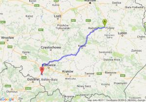 Trasa Bąkowiec - Żory