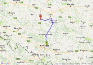 Trasa Dąbrowa Górnicza - Sieradz